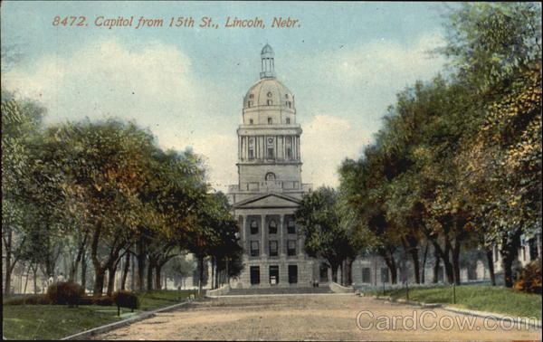 Capitol From 15Th St. Lincoln Nebraska