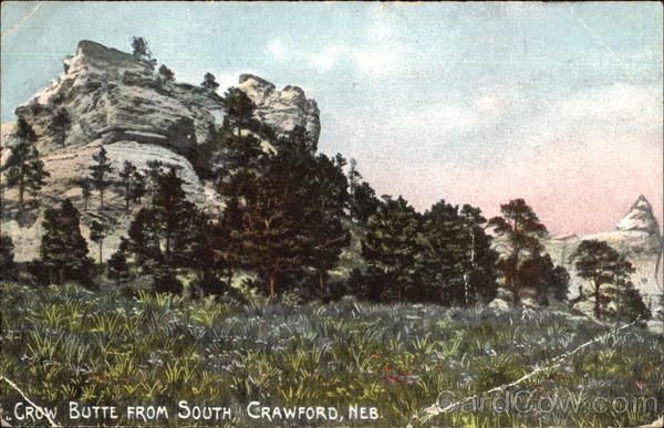 Crow Butte From South Crawford Nebraska