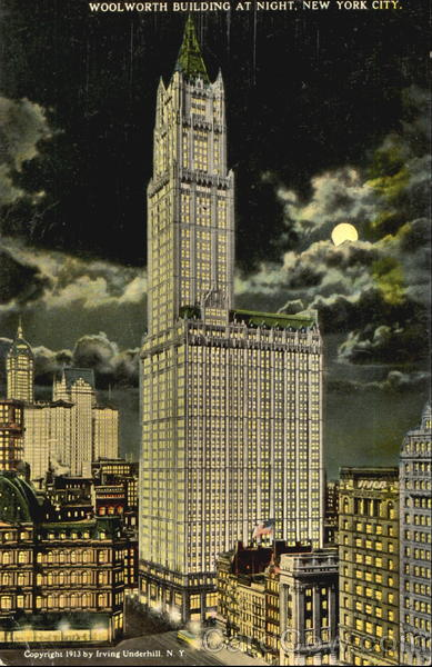 Woolworth Building At Night New York City