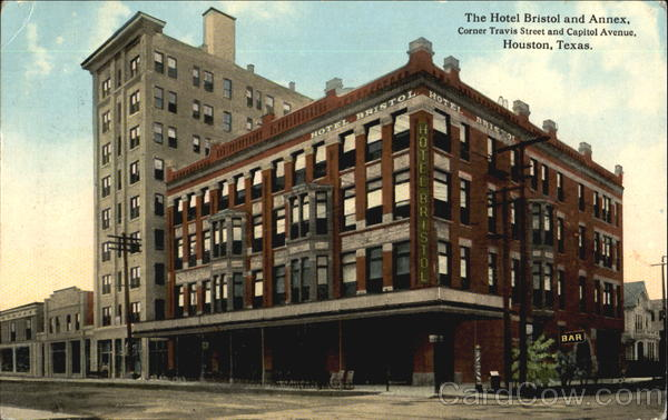 The Hotel Bristol And Annex, Corner Travis Street and Capitol Avenue Houston Texas
