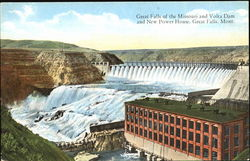 Great Falls Of The Missouri And Volta Dam An New Power House