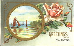 Greetings From Valentine Postcard