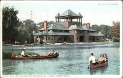 The Skating Pavilion And Canal, Belle Isle Postcard