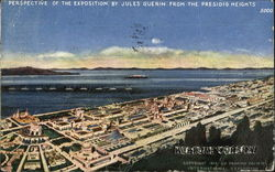 Perspective Of The Exposition By Jules Guerin From The Presidio Heights