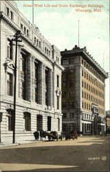 Great West Life And Grain Exchange Buildings Postcard