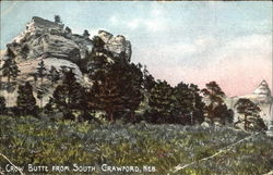 Crow Butte From South Postcard