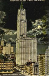 Woolworth Building At Night
