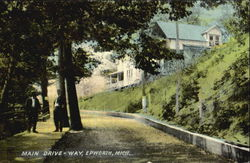 Main Drive-Way, Epworth Postcard