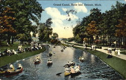 Grand Canal, Belle Isle Postcard