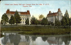Villard And Deady Hall And Campus From The Lake, U. of O