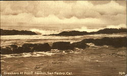 Breakers At Point Fermin Postcard