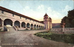 Santa Barbara Mission Postcard