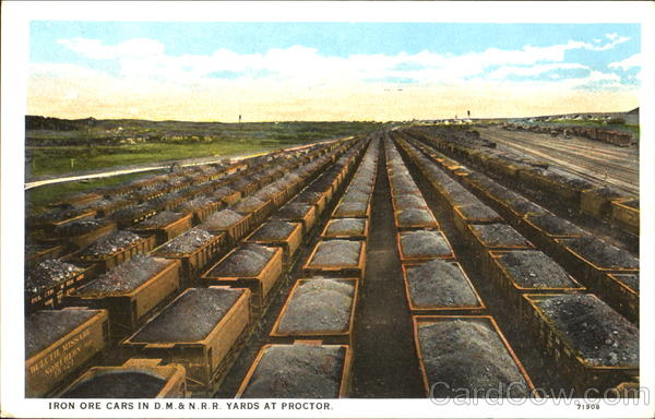 Iron Ore Cars In D. M. & N. R. R. Yards At Proctor