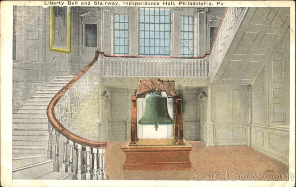 Liberty Bell And Stairway, Independence Hall Philadelphia Pennsylvania