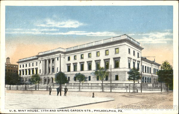 U. S. Mint House, 17th and Spring Garden Sts. Philadelphia Pennsylvania
