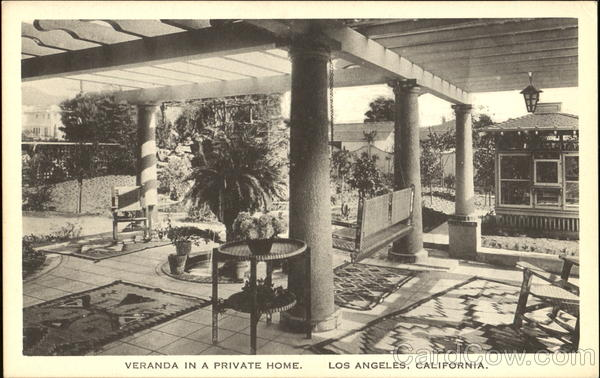 Veranda In A Private Home Los Angeles California