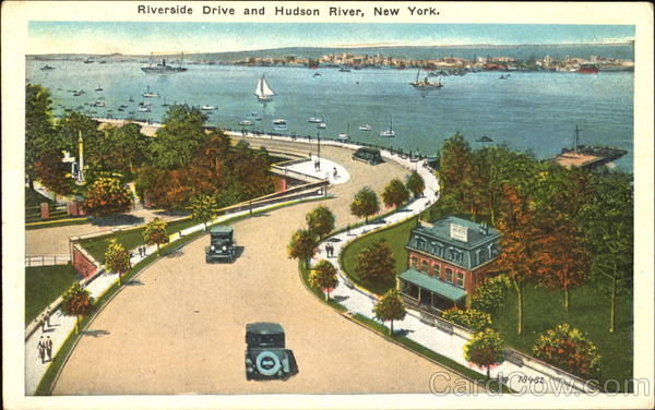 Riverside Drive And Hudson River, 155th Street New York