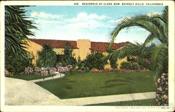 Residence Of Clara Bow Beverly Hills California