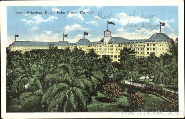 Royal Poinciana Hotel Palm Beach Florida