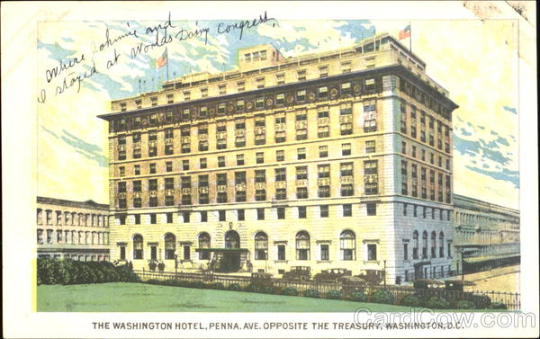 The Washington Hotel, Penna Ave. District of Columbia