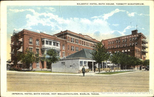 Majestic Hotel Bath House Marlin Texas