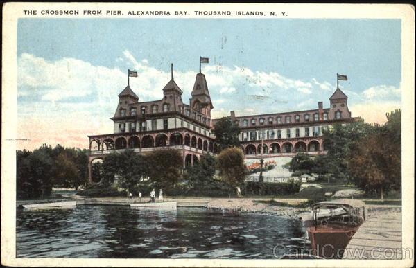 The Crossmon From Pier, Alexandria Bay Thousand Islands New York