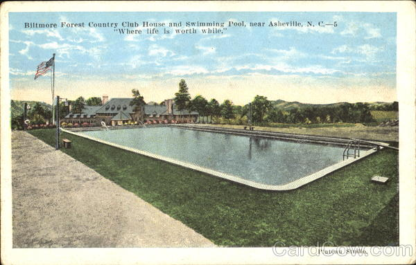 Biltmore Forest Country Club House And Swimming Pool Asheville Nc