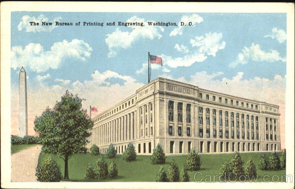 The New Bureau Of Printing And Engraving Washington District of Columbia