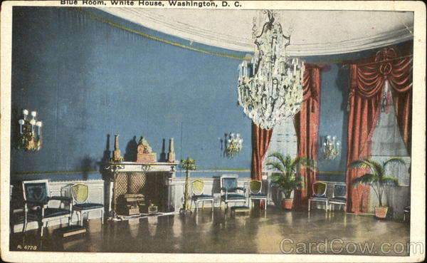 Blue Room White House Washington District of Columbia