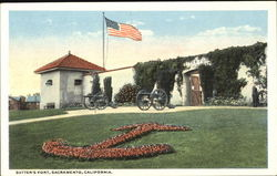 Sutter's Fort Postcard