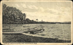 Scene On Lake Wickaboag Postcard