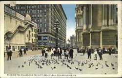 Feeding The Pigeons On The City Hall Plaza