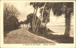 A Curve In The Road Postcard