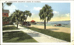 An Attractive Roadway Scene In Florida