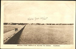 Bridge From Merritt's Island To Cocoa Postcard