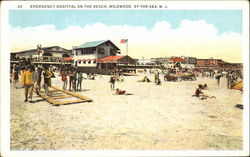 Emergency Hospital On The Beach Postcard