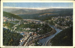 Bird's Eye View Of Mauch Chunk