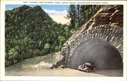 Tunnel And Chimney Tops, Great Smoky Mountians National Park