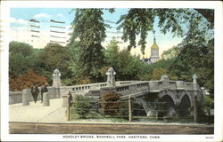 Hoadley Bridge, Bushnell Park Postcard