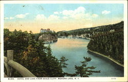 Hotel And Lake From Eagle Cliff Postcard