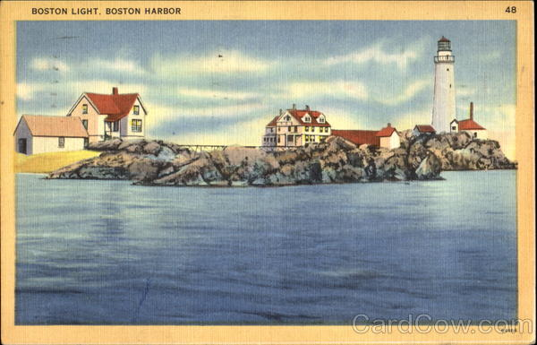 Boston Light, Boston Harbor Massachusetts Lighthouses