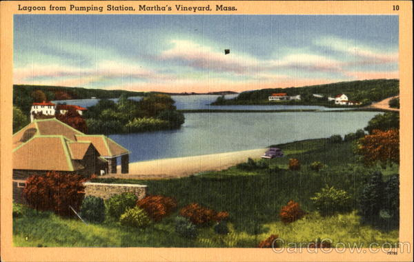 Lagoon From Pumping Station Martha's Vineyard Massachusetts