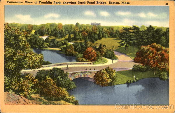 Panorama View Of Franklin Park Boston Massachusetts
