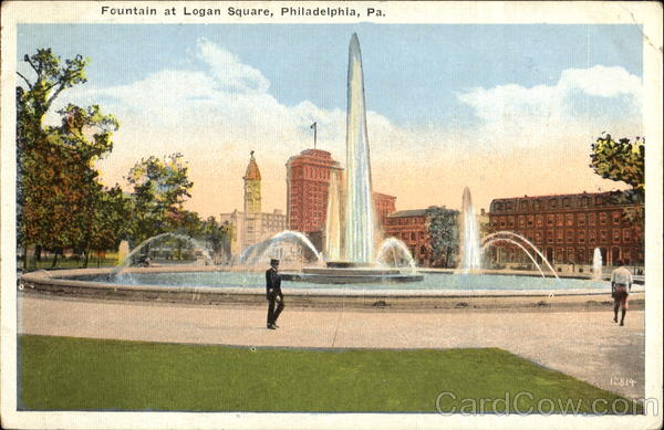 Fountain At Logan Square Philadelphia Pennsylvania