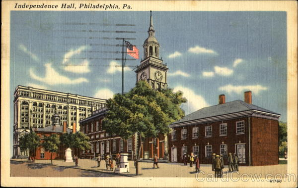 Independence Hall, Chestnut St., between 5th and 6th Sts. Philadelphia Pennsylvania