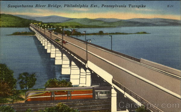 Susquehanna River Bridge, Philadelphia Ext., Pennsylvania Turnpike