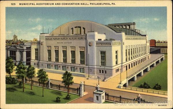 Municipal Auditorium And Convention Hall Philadelphia Pa