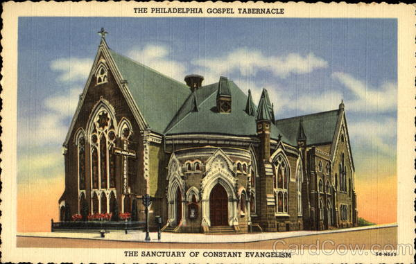 The Philadelphia Gospel Tabernacle, N. E. Broad and Master Sts. Pennsylvania