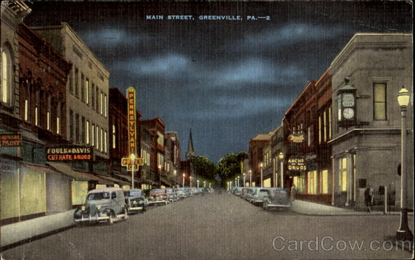 Main Street Greenville Pennsylvania