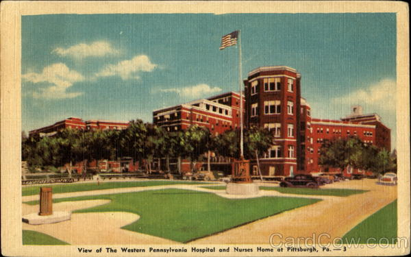 View Of The Western Pennsylvania Hospital And Nurses Home Pittsburgh
